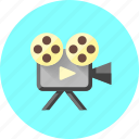 film, marketing, movie, play, player, sound, video icon
