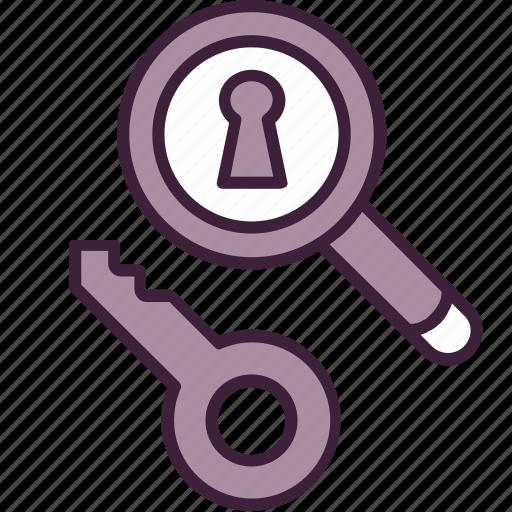 find, keyword, magnifier, marketing, optimization, search, seo icon