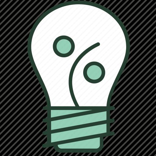 bulb, creative, idea, marketing, percentage, profit, solutions icon