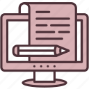 article, blog, blogging, compose, editing, pencil, writing icon