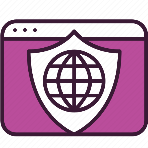 internet, network, online, protection, security, shield, webpage icon