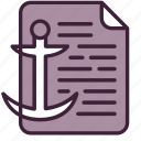 anchor, article, content, copywriting, link, seo, text icon