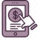click, mobile, money, pay, payment, per, ppc icon