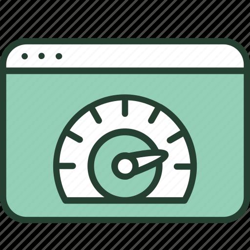 internet, optimization, performance, seo, speed, speedometer, webpage icon