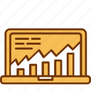 analytics, chart, computer, data, graph, monitoring, statistics icon