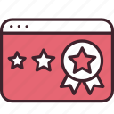 award, favorite, ranking, rating, seo, star, webpage icon