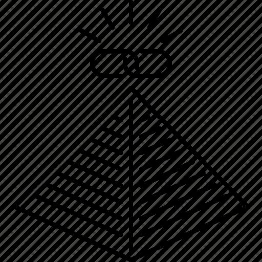 link, marketin, promotion, pyramid, seo, url icon