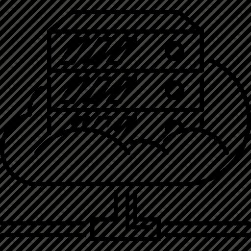 cloud, data, file, folder, repository, seo, server icon