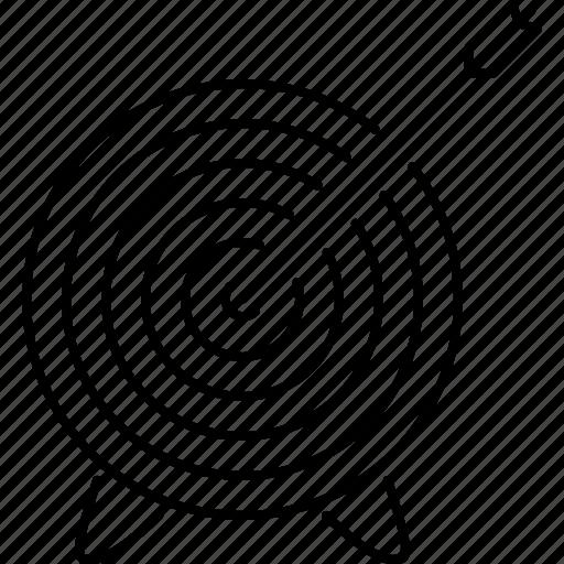 arrow, business, marketing, seo, site, target icon