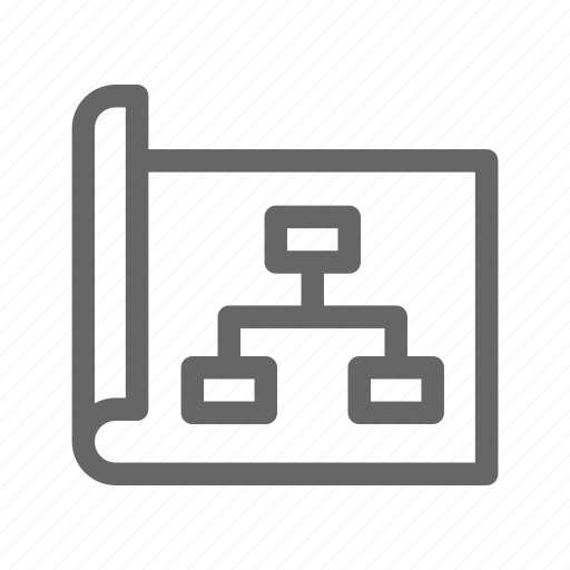chart, graph, map, seo, sitemap icon