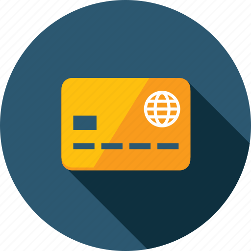 banking, credit card, flat design, long shadow, methods, payment, shopping icon
