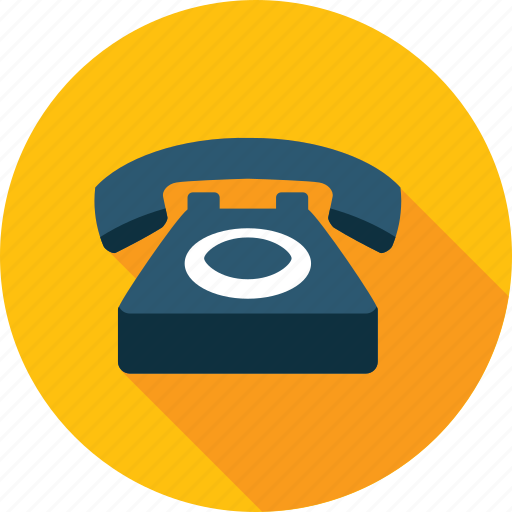 call, communication, contact, flat design, long shadow, phone icon