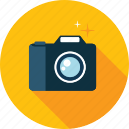 camera, flat design, gallery, image, long shadow, photo, photography icon