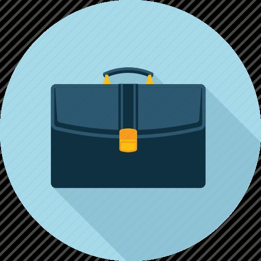 bag, business, flat design, long shadow, office, portfolio, project icon