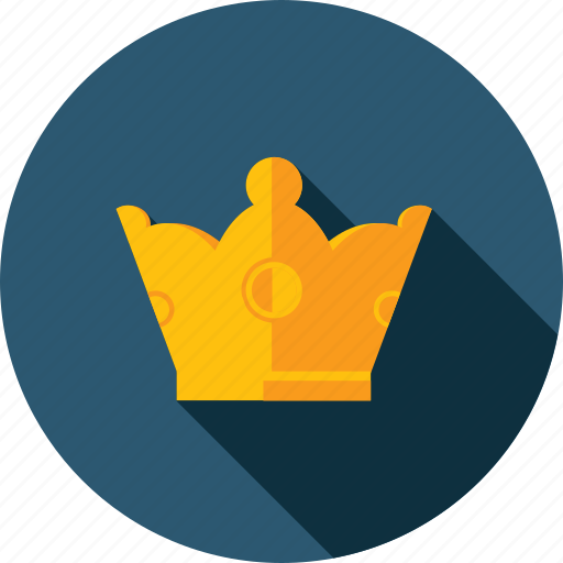 crown, flat design, jewelry, long shadow, premium, services icon