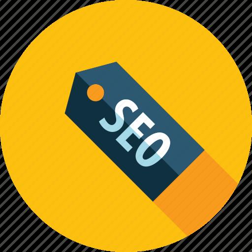 flat design, internet, label, optimisation, seo, tag, website icon