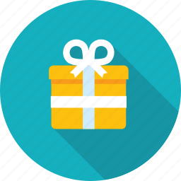 celebration, flat design, gift, long shadow, package, shoping icon