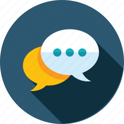chat, communication, engagement, flat design, forum, media, social icon