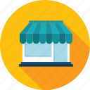 commerce, flat design, long shadow, online, shopping, store icon