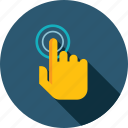 app, devices, electronic, finger, flat design, technology, touchscreen icon