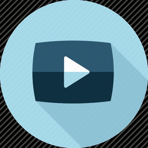 flat design, marketing, movie, social media, training, tutorial, video icon