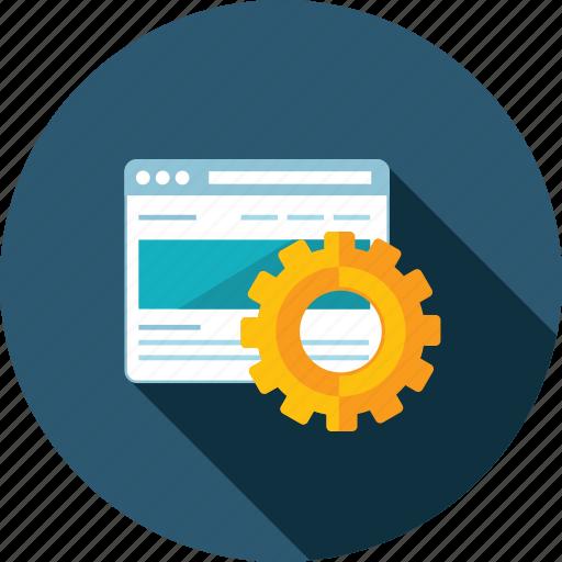 development, flat design, long shadow, optimization, seo, web, website icon