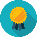 success, award, recommendation, badge, long shadow icon