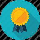 success, award, recommendation, badge, long shadow