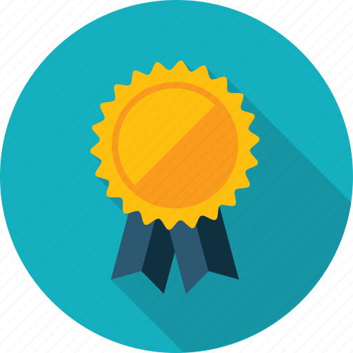 Award, badge, flat design, long shadow, recommendation ...