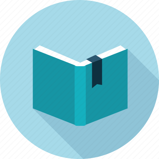 book, case, content, flat design, long shadow, study icon