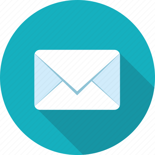 contact, email, flat design, letter, long shadow, message, sms icon