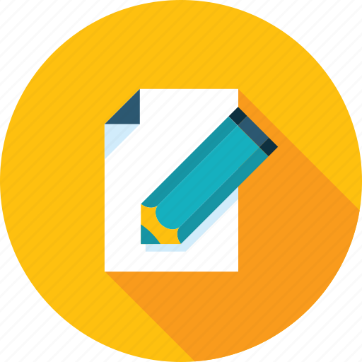 blog, content, copywriting, flat design, long shadow, management, text icon