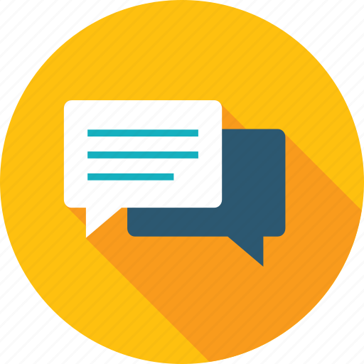chat, communication, customer, flat design, forum, review, testimonials icon