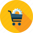 commerce, development, flat design, optimization, seo, shopping, web icon