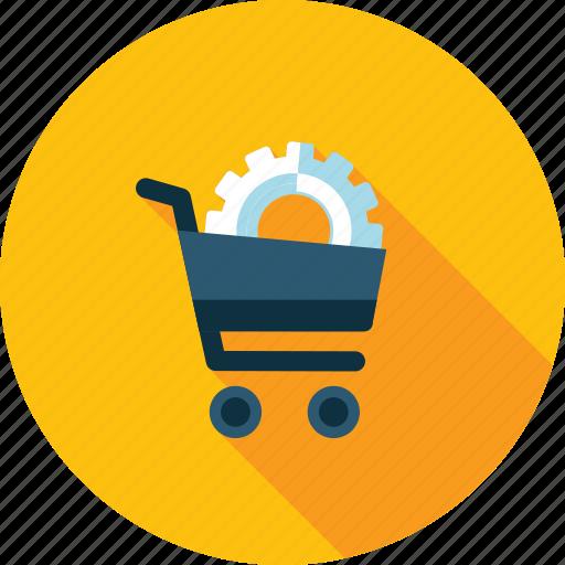 commerce, development, flat design, optimization, seo, shopping, web icon