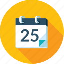 schedule, long shadow, news, calendar, events icon