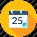 calendar, events, long shadow, news, schedule