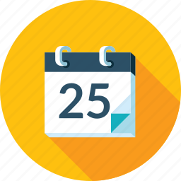 calendar, events, flat design, long shadow, news, schedule icon