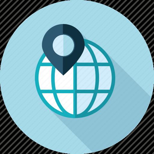 destination, flat design, gps, local, location, navigation, seo icon