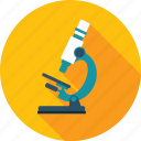 education, flat design, laboratory, long shadow, market, research, science icon