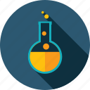 chemistry, laboratory, long shadow, market, research, science icon
