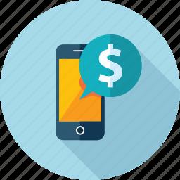 flat design, internet, m-banking, m-commerce, marketing, mobile, shopping icon