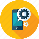 app, development, long shadow, mobile, seo, website