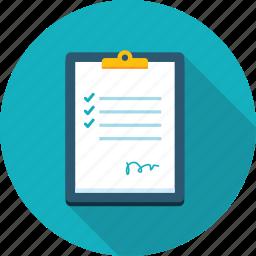 checklist, flat design, list, long shadow, order, wish icon
