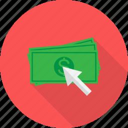 click, pay, seo icon