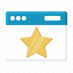award, best page, bookmark, favorite web site, rank, star, web site icon