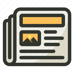 advertisement, media, newsletter, newspaper icon