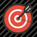 aim, focus, goal, target