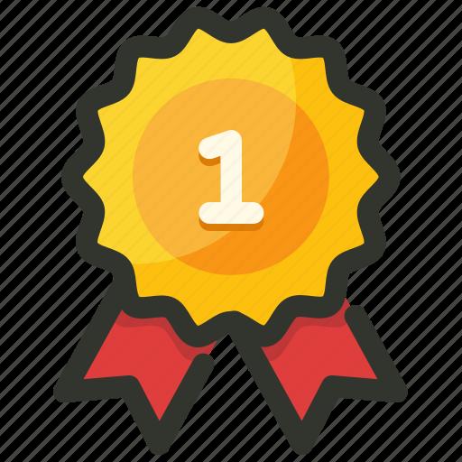 achievement, award, badge, reward, winner icon