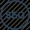 circle, optimization, search engine, seo, web